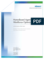 HomeBased Agents and Workforce Optimization