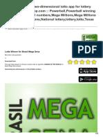 Mylotto-App.com-Brasil Mega Sena Two-dimensional Lotto App for Lottery Winner