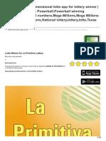 Mylotto-App.com-La Primitiva Two-dimensional Lotto App for Lottery Winner