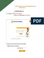 Expedición de Certificados de Trabajadores Por La Página Web