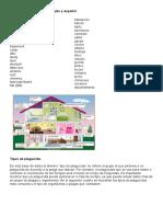 Vocabulario de La Casa en Ingles y Español