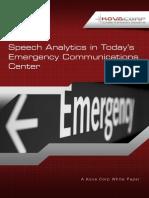 Speech Analytics in Today's Emergency Communications Center