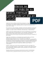 Venezolanos Se Gastaron Más de Su Salario Mensual Comprando Un Día en Cúcuta