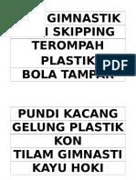 Label Alatan Sukan