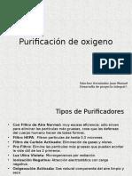 Purificación de Oxigeno (Analogos)