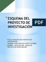 Diapositivas Esquema Del Proyecto de Investigación
