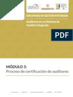 M III Lo 05Proceso de Certificacion de Auditores