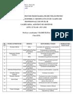 Tabel Nominal Proiecte Examen - Pl II