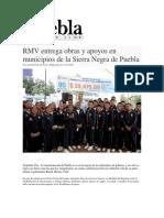 17-03-2016 Puebla on Line - RMV Entrega Obras y Apoyos en Municipios de La Sierra Negra de Puebla