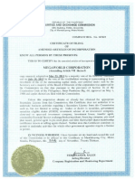 Amended Articles of Incorporation as of November 20 2013