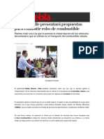 17-03-2016 Sexenio Puebla - Moreno Valle Presentará Propuestas Para Combatir Robo de Combustible