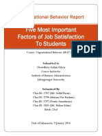 Five Most Important Factors of Job Satisfaction To Students
