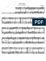 MOZART 6 Canons in C Cello Duet