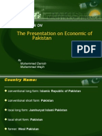 Economy of Pakistans Presentation Final