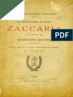 S. Antoine Marie Zaccaria et  L'origine des Quarante-Heures