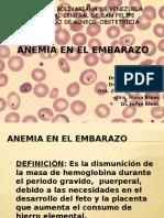Anemia y Embarazo