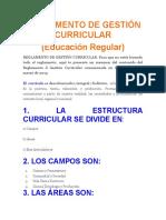 Reglamento de Gestión Curricular