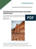 Brasil Domina La Lista de Las 10 Mejores Universidades Latinoamericanas _ Internacional _ EL PAÍS