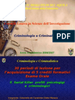 Criminologia e Criminal is Tic A 6 Lezione