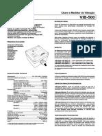 Manual Da Chave e Medidor de Vibracao VIB-500