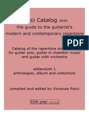 Pocci Catalog 31th Year 2016 Anthologies