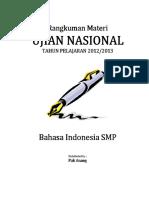 Rangkuman Materi UN Bahasa Indonesia SMP PDF