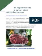 Los Efectos Negativos de La Merma de Carne y Cómo Reducirla Con Ozono