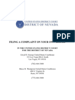 Filing a Complaint on Your Own Behalf [US District Court of Nevada]
