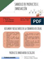 Taller de Desarrollo de Productos e Innovación