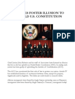 Justices Foster Illusion to Comprehend U.S. Const
