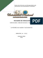 2996604 La Provincias de Huaura y Sus Distritos