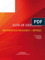 Guía de Actividades Matemática Aplicada i - Mtes01