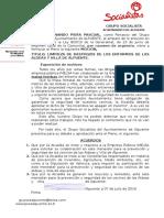 """Moción Grupo Socialista de Alpuente sobre """"Limpieza de Rastrojos""""."""