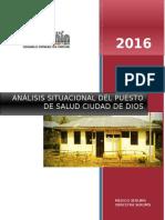 Analisis Situacional Ciudad de Dios 2015 i