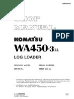 Komatsu Wheel Loaders WA450-3 Shop Manual