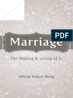 Marriage - Making It and Living It MIZAR YAWAR BAIG