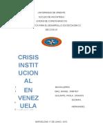 crisis institucional