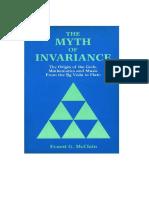 Myth Of Invariance by Ernest G McClain