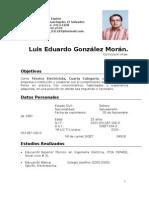 Curriculum Luis Eduardo