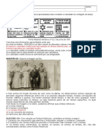 Prova História 1º Ensino Médio