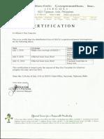 Certification (July 13, 2016)