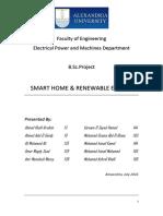 "Graduation Project on ""SMART HOMES & RENEWABLE ENERGY"""