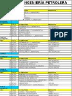 Ing. Petrolera -Plan de Estudios 1996