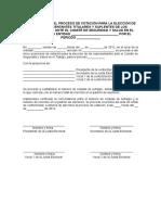 Modelo de Acta de Inicio Del Proceso de Votacion