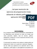 Tutorial Base Grafica Geogebra y Simplex Por Solver