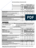 2016 - Fee Structure and Scholarship for 2016 - V1
