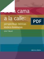 De La Cama a La Calle Perspectivas Teoricas Lesbico Feministas