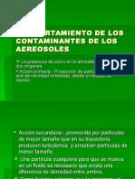Comportamiento de Los Contaminantes de Los Aereosoles