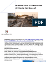 Rising Infrastructure Megaprojects to Boost Russia Construction Industry