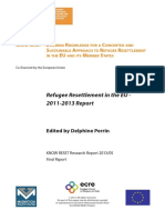 Refugee Resettlement in the EU - 2011-2013 Report